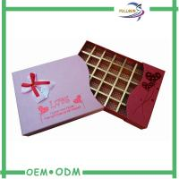 Wholesale Printed Large Cardboard Chocolate Gift Boxes / Paper Insert Chocolate Box Packaging from china suppliers
