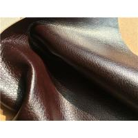 Wholesale Flocking Double Brown Stretch Leather Fabric 1.0mm - 1.2mm Thickness from china suppliers