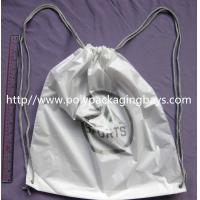 Wholesale Personalized PP Promotion  Packaging / White Plastic Drawstring Backpack from china suppliers