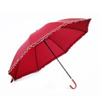 Quality 23 Inch 8 Ribs Elegant Dot Design High Quality Straight Umbrella with Lace Trim Edge for sale