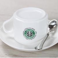 Wholesale coffee cups ceramic made white starbucks daily use from china suppliers