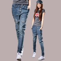 Wholesale Fireproof Ladies Coloured Straight Leg Ankle Jeans 100 Percent Cotton Denim from china suppliers
