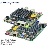 Wholesale Fanless Dual LAN Nano ITX Motherboard J1900 CPU Quad Core LVDS HDMI VGA Display from china suppliers