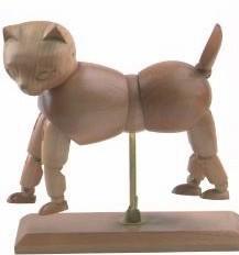 Wholesale Vivid Craft Artist Wooden Manikin Dog / Cat Mannequin Good Design from china suppliers