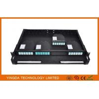 Wholesale 96 Cores 1U MPO Patch Panel / Enclosures 4 bays wide 24 LC ports3 MPO APC (x8) input SMF from china suppliers