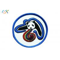 China Custom Badge Embroidery Iron On Backing Patch For Garment Clothing on sale