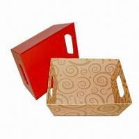 China File Trays, Made of Cardboard and Art Paper or Silver/Golden Paper Outside Materials on sale