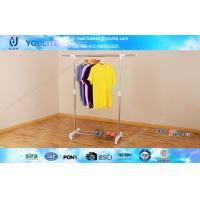Wholesale Rolling Single Pole Clothes Rack for Shoes and Shirts / Scalable Clothing Drying Hanger from china suppliers