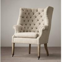 Wholesale Wingback Tufted Leather Living Room Chair , Comfortable Oversized Couches from china suppliers