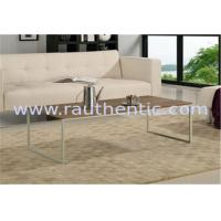 Wholesale Contemporary Walnut Coffee Table , Metal And Wood Coffee Table Set With Metal Leg from china suppliers
