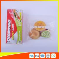Wholesale Airtight Plastic Zipper Sandwich Bags , Zip Lock Reusable Food Storage Bags from china suppliers