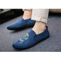 Quality Black Gray Blue Loafer Slip On Shoes Driving Moccasins Shoes Breathable for sale