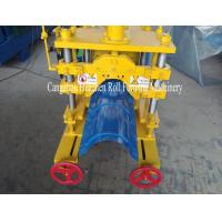 Wholesale Automatic Ridge Cap Roll Forming Machine , roof Tile Manufacturing Machine Hydraulic Cutting from china suppliers