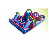 Wholesale Waterproof Colorful 60m x 7m x 10m Inflatable Obstacle Course rentals For Kids And Adults from china suppliers