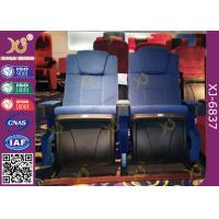 Wholesale Molded PU Foam Gravity Fold Up Audience Seating Chairs Fabric Covered With Push Back from china suppliers