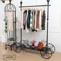 Wholesale design iron clothing display shelves metal rack stands from china suppliers