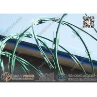 China PVC coated Concertina Cross Razor Barbed Wire Fence   Anping China Supplier on sale
