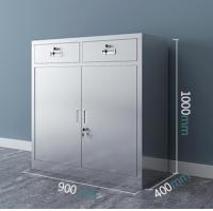 Compact Lockable Metal Filing Cabinet Adjustable Shelves Spray Uniformity Surface