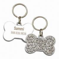 Wholesale Bone-shaped Pet Charms, Suitable for Promotional Purposes, Customized Colors Accepted from china suppliers