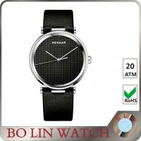Wholesale Diamond - Cut Hand Leather Automatic Watch , 100m All Black Mens Leather Belt Watches from china suppliers