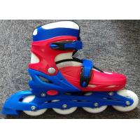 Wholesale Plastic Frame Adjustable Roller Skate Shoes / Inline Speed Skating Equipment Multi Color from china suppliers