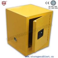 Wholesale Fire Resistant Yellow Chemical Storage Cabinet , Flame Proof Cabinets Dangerous liquid storage from china suppliers