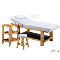 Wholesale ASF-07-052 White Color Salon Facial Table Customized Wooden Massage Table with Face Hole from china suppliers