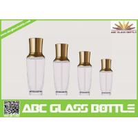 Wholesale Royal Design Series Empty Glass Cream Bottle With Pump And Golden Cap from china suppliers