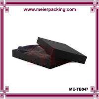 Quality Elegant Design Sweater Storage Paper Box/Black Gift Box for Sweater ME-TB047 for sale
