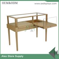 Quality jewelry shop counter design stainless steel jewelry showcase with lock wooden showcase for sale