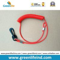 Wholesale Engines Kill Stop Tether Colosed Safety Swith Red Soft Coil Strap from china suppliers