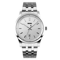 Wholesale Silver Strap Analog Quartz Watches With Dual Time Zone Display from china suppliers