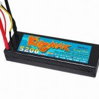 Wholesale KingMax Lipo Battery, 5,200mAh 7.4V 40C for RC Car from china suppliers