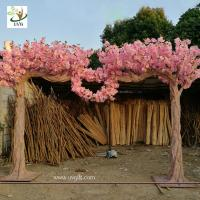Wholesale UVG wedding design in artificial sakura tree with cherry blossom branches for decorations CHR115 from china suppliers