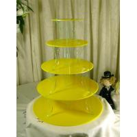 Wholesale Elegant 3 Tier Acrylic Cupcake Display For Wedding Or Party from china suppliers