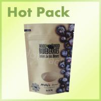 Wholesale Clear Window Kraft Paper Food Packaging Pouches For 50g Dried Blueberries from china suppliers