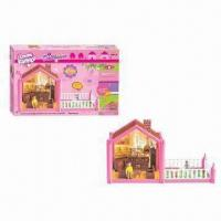 Wholesale 47-piece Plastic Assembling Happy Family Doll House Set Toys, Made of PP, PS Materials from china suppliers