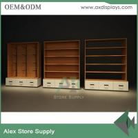Wholesale Women clothes display shelf showcase clothes display wall unit clothes shop furniture design wood with LED from china suppliers