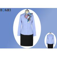 Wholesale Simple Durable Long Sleeve Blue Office Uniform For Office Wear from china suppliers