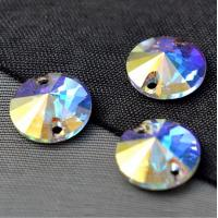 Wholesale sew on rhinestones for formal dress Round Rivoli sew on crystal ab stone from china suppliers