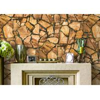 Wholesale 3D Effect Stone Pattern European Style Wallpaper Durable With PVC Material from china suppliers