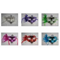 Wholesale Halloween Christmas Venetian Masquerade Glittering Feather Party Eye Mask from china suppliers