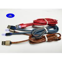 Quality QC Professional Leather Jean Denim Smartphone USB Data Cable for sale