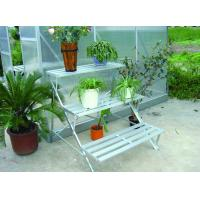 Wholesale OEM Silver Aluminum Metal Flower Shelf / Garden Stage / Greenhouse Staging With 3 Tier from china suppliers