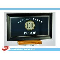 Wholesale Black Custom MDF Wood Display Printing logo For Supermarket Display Counter from china suppliers