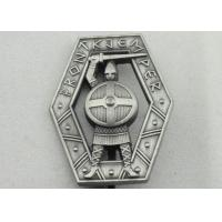 Wholesale Zinc Alloy 3D Warrior Badge, Antique Silver Plating Souvenir Clip Metal Badges from china suppliers