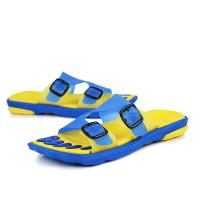 China Comfort Slide Mens Sports Slippers Bathroom Water Shoes Double Buckle on sale