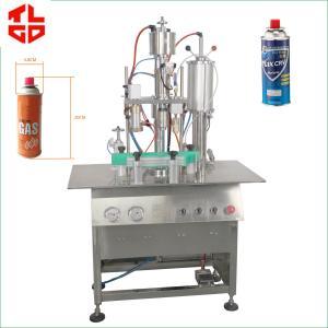 Wholesale Aerosol Spray Cartridge Butane Gas Filling Machine Semi Automatic Pneumatic Drive from china suppliers