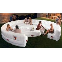 Wholesale White large Circular PVC Modern Inflatable Furniture , Inflatable Sofa Bed from china suppliers