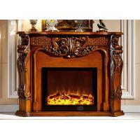 Wholesale Freestanding 1.5m White Imitation Marble Fireplace Energy Efficient from china suppliers
